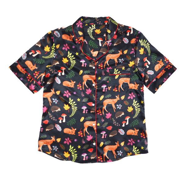 Forest Fawns Silk Shirt