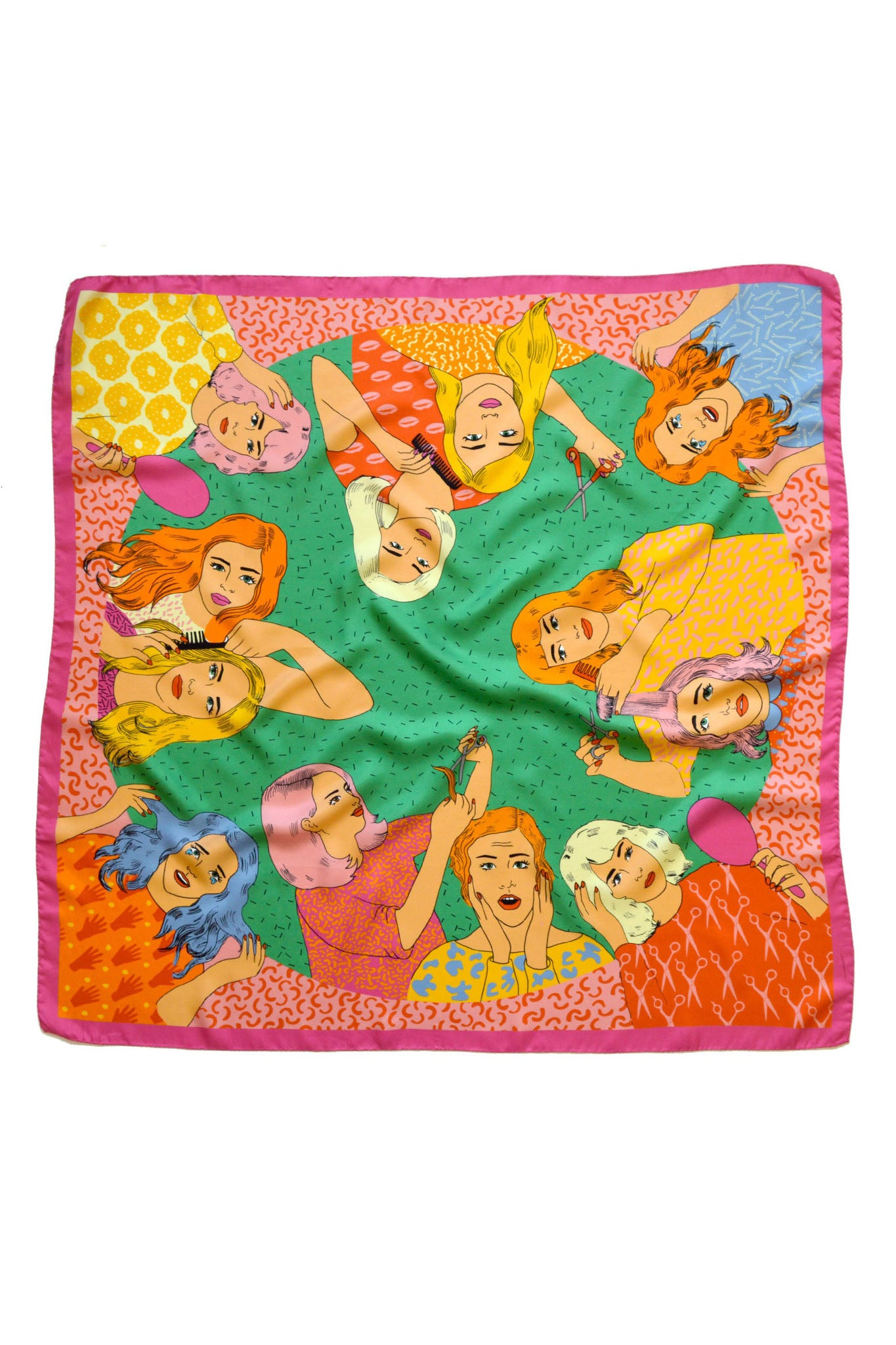 Bad Hair Day Silk Scarf