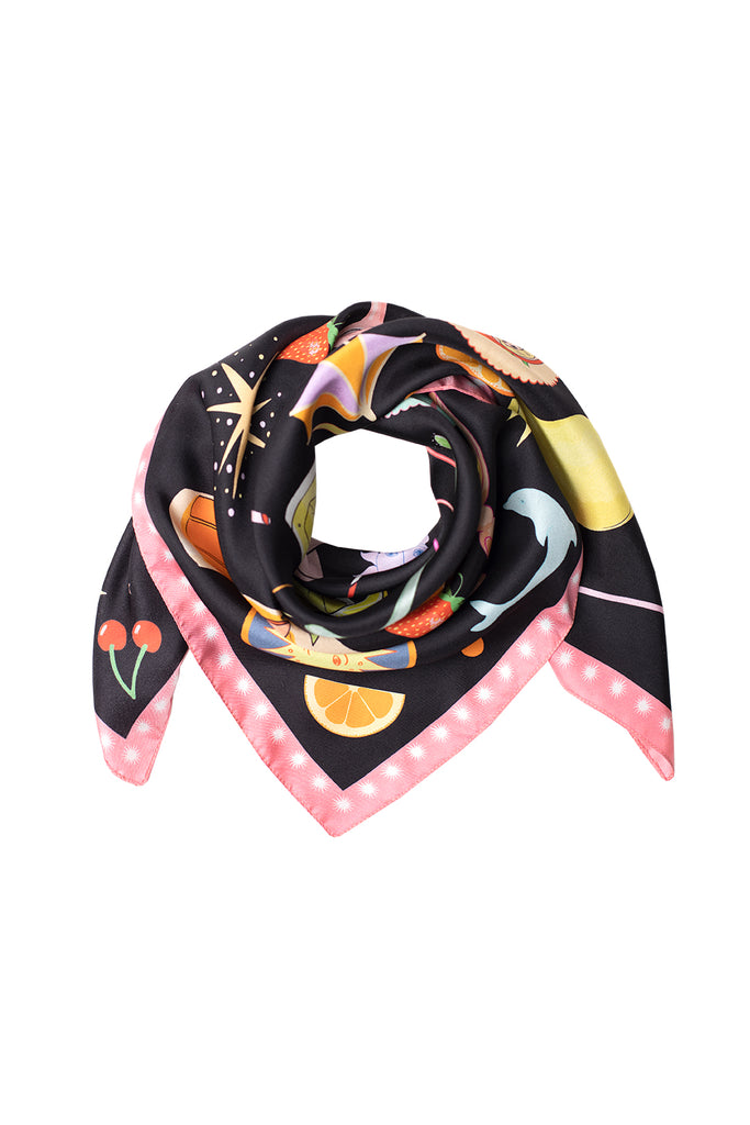 Happy Hour Silk Scarf