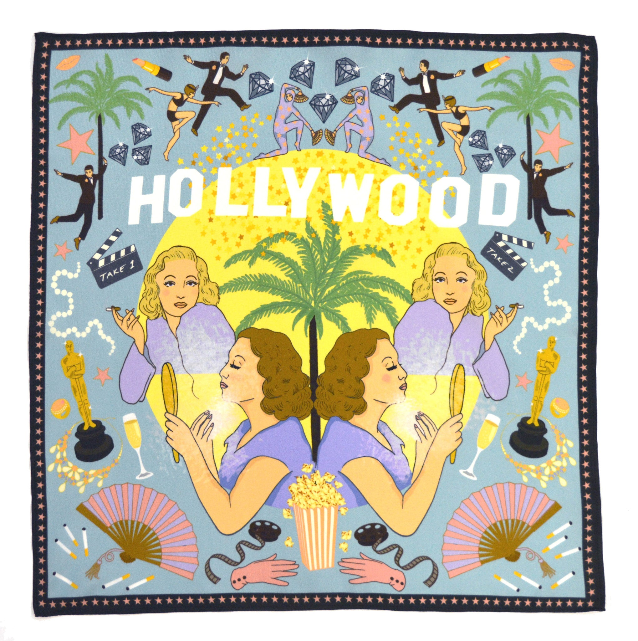 *Limited Edition* Hollywood Pocket Square