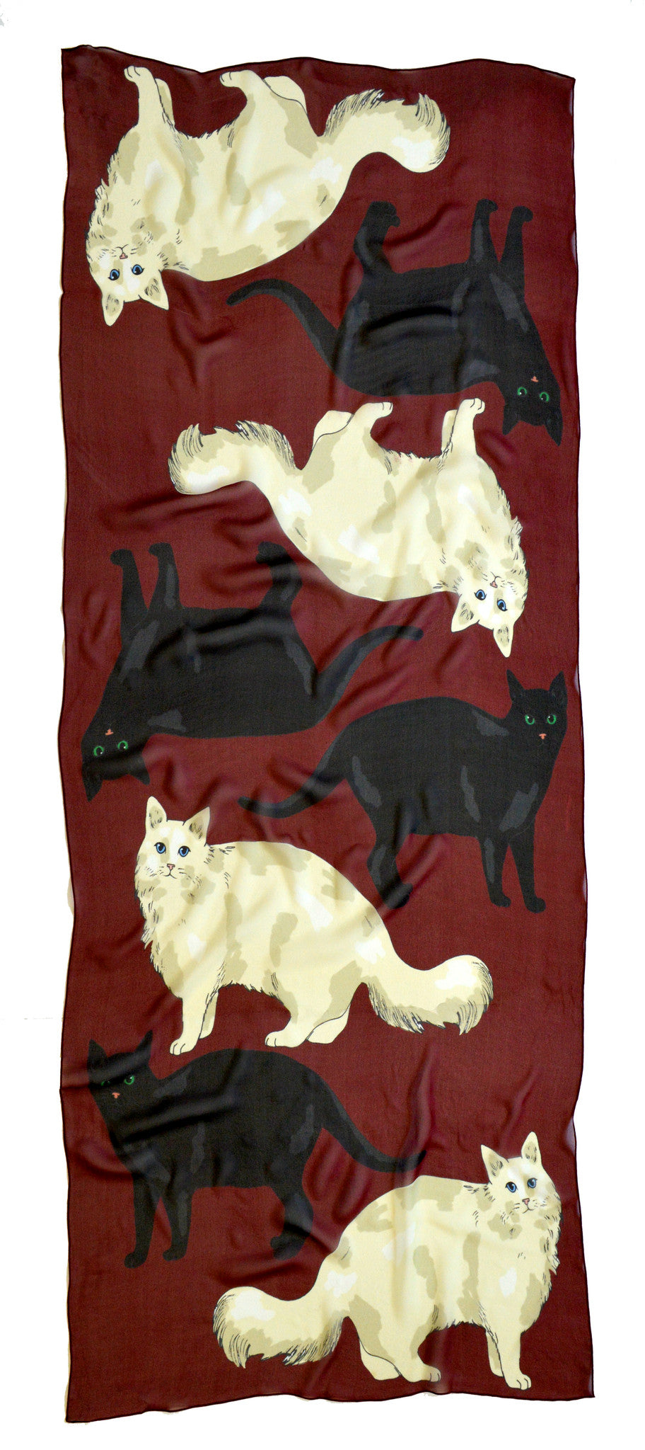LOVE CATS CASHMERE BLEND SCARF