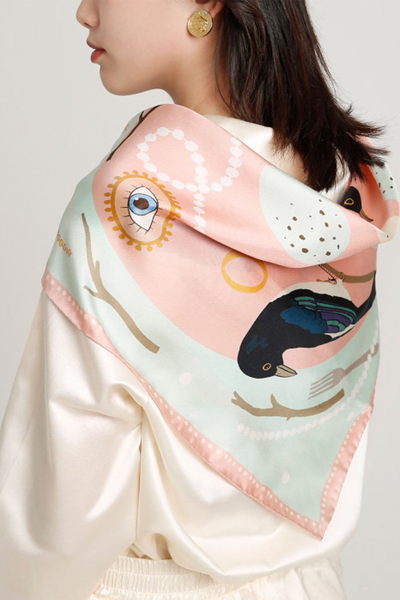 All That Glitters Silk Scarf