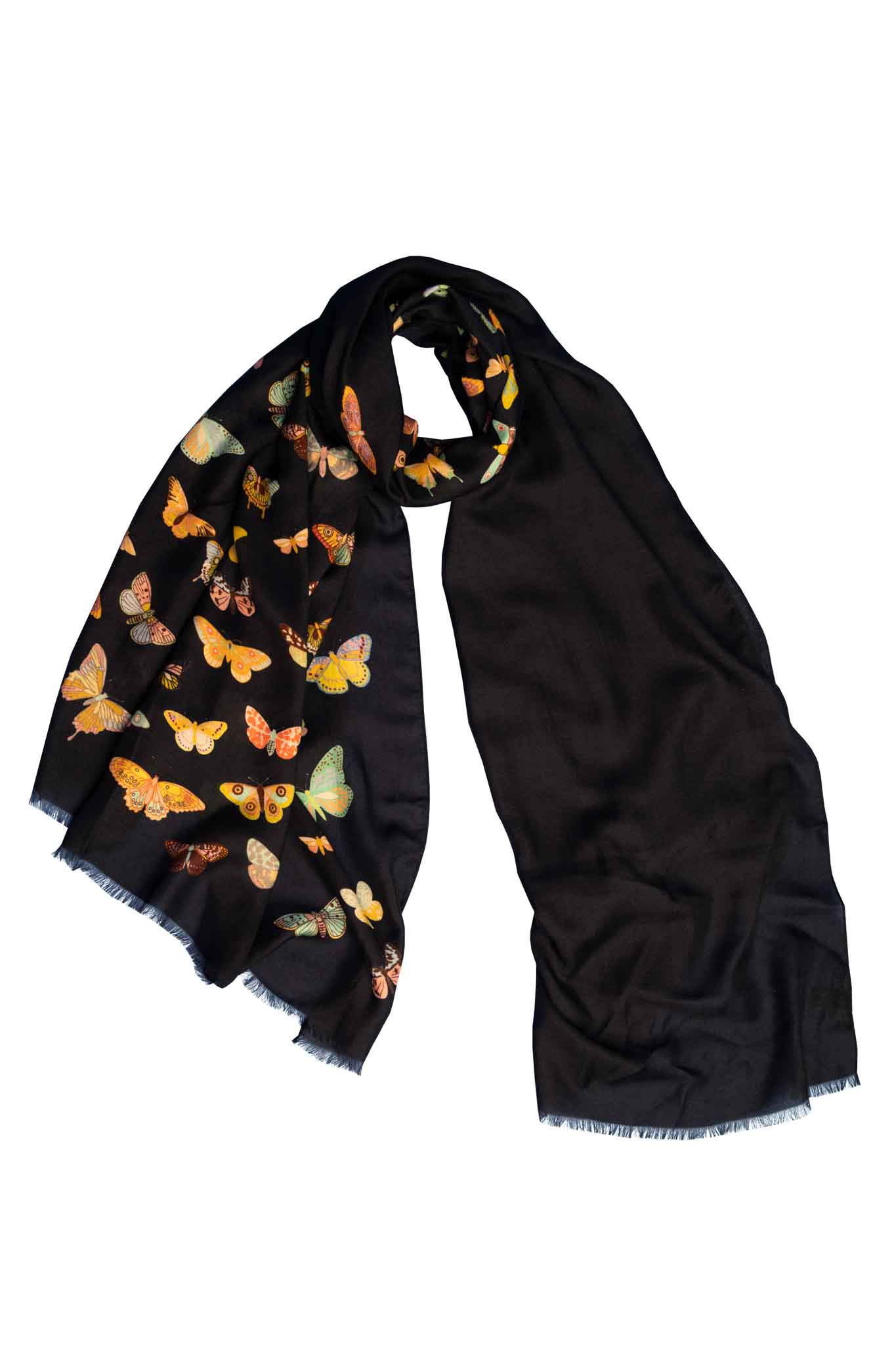 Like A Moth To A Flame Cashmere Blend Scarf