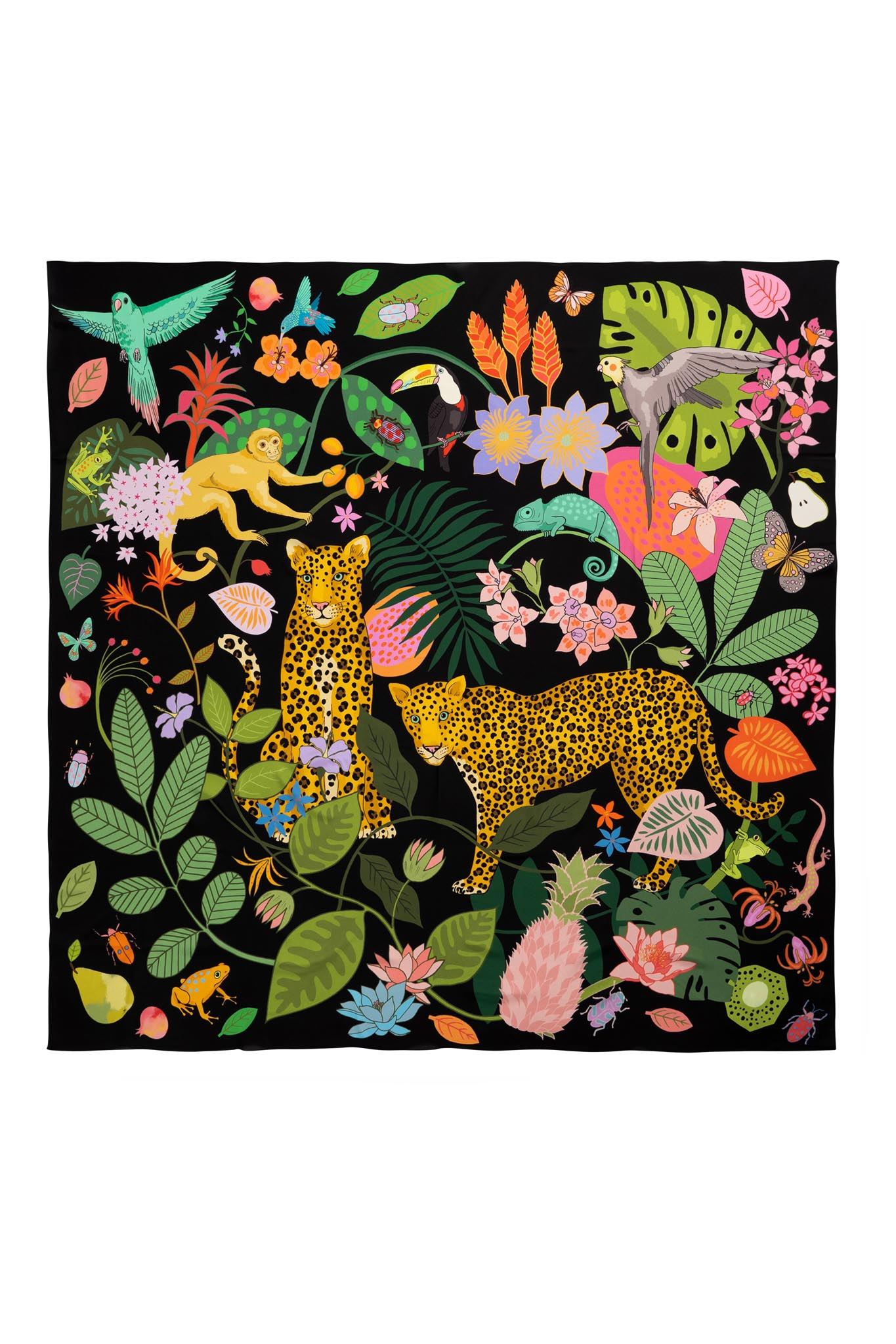 Rainforest Silk Scarf - Oversized