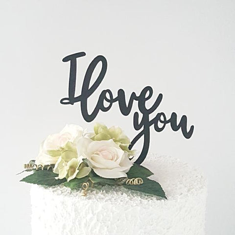 I Love You Acrylic Cake Topper