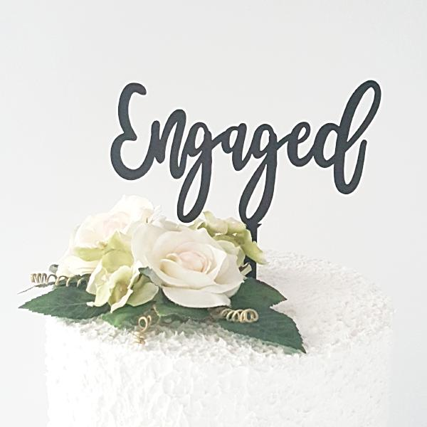 ENGAGED ACRYLIC CAKE TOPPERS