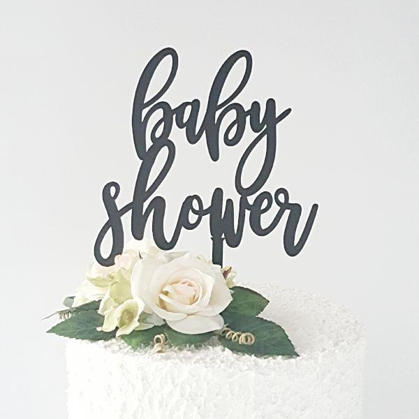 Perfect baby shower cake topper