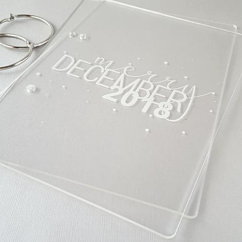 Merry December 2018 Clear Acrylic Album