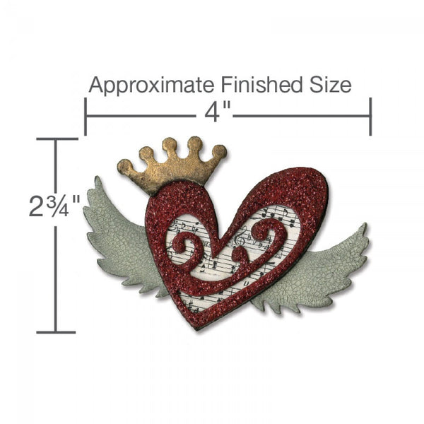 Sizzix -Tim Holtz Alterations Dies - Heart Wings