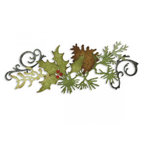 Sizzix -Tim Holtz Alterations Dies - Festive Greenery