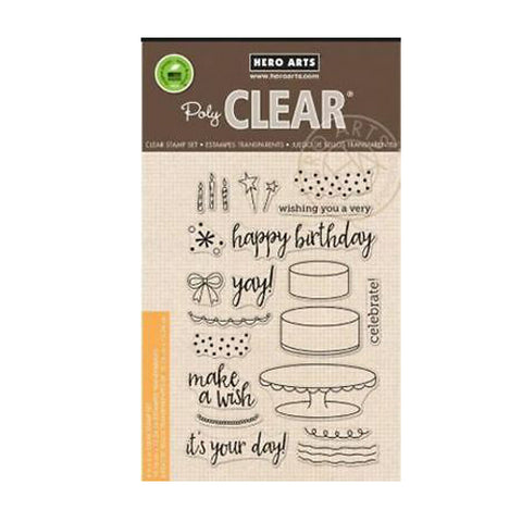Birthday Cake Layering Clear Stamp Set