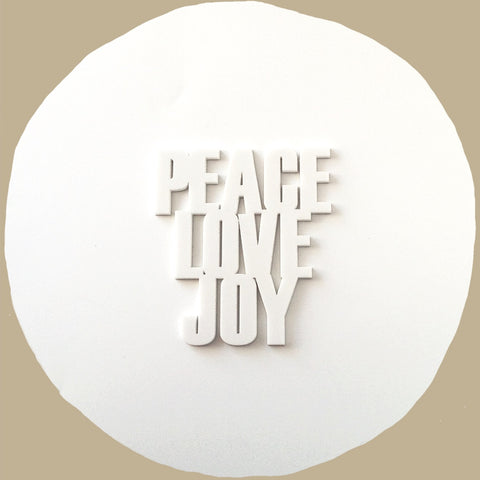 Peace,Love,Joy Acrylic Words