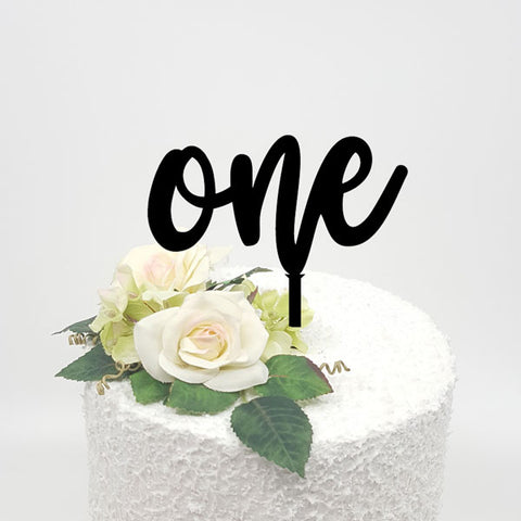 One Acrylic Cake Topper