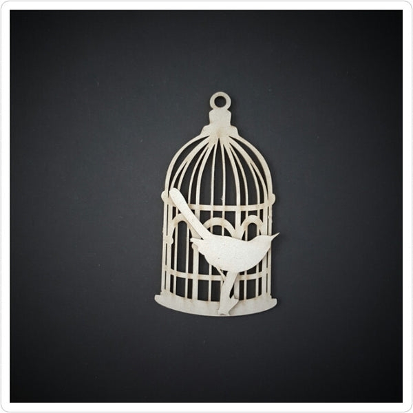 Small Bird Cage Chipboard  Embellishments