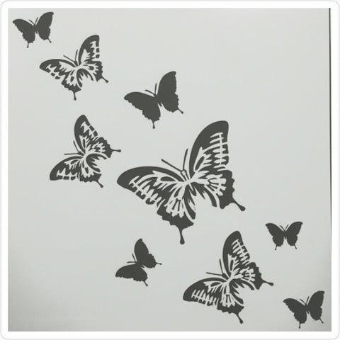 Scattered Butterfly Stencil