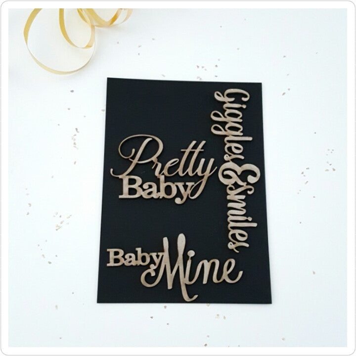 Pretty Baby Girl Chipboard