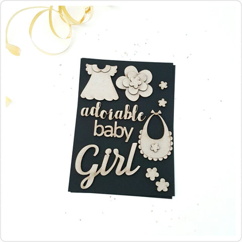 Adorable Baby Girl Chipboard