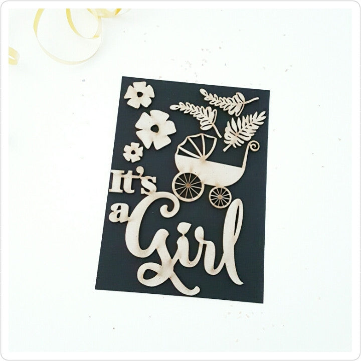 It's a girl! Chipboard embellishments