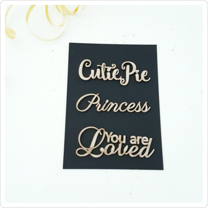 Cutie Baby Girl Chipboard  Title