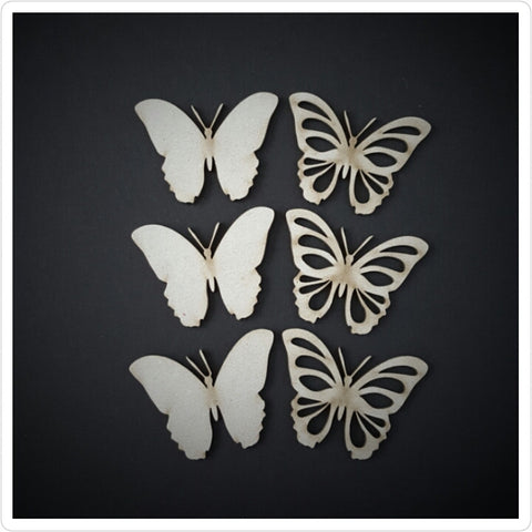 Layered Butterfly Chipboard