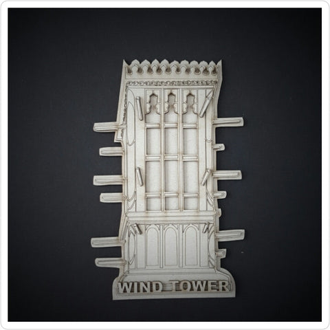 Wind Tower Chipboard embellishment