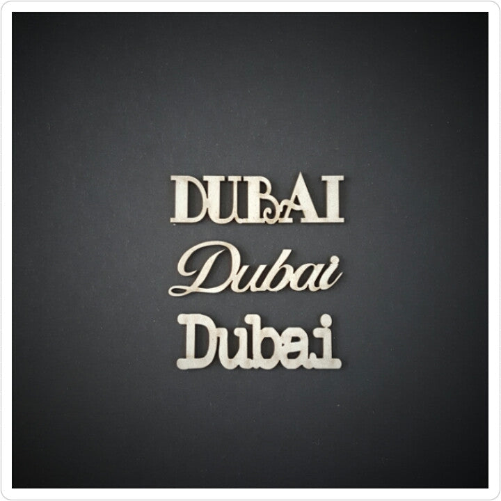 Mini Dubai Chipboard embellishment