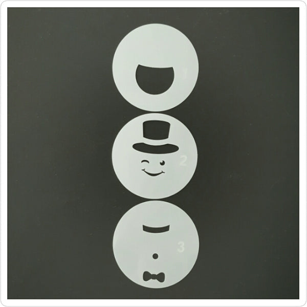 Snowman Layered Cookie Stencil