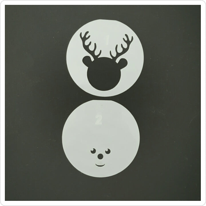 Reindeer Layered Cookie Stencil