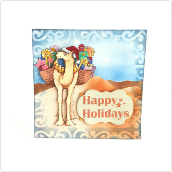 Christmas Camel  Stamp