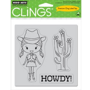 Hero Arts Howdy Cling Rubber Stamp