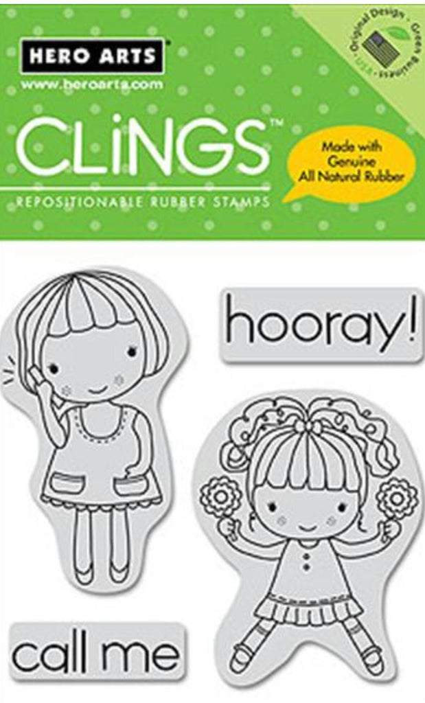 Happy Girl Cling Rubber Stamp
