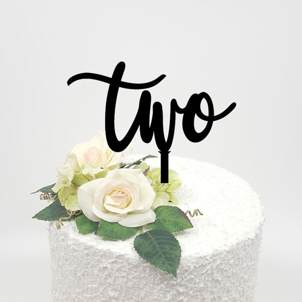 Two Acrylic Cake Topper