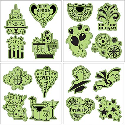 Celebrations Fun Set Cling Rubber Stamps