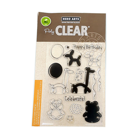 Balloon Animal Birthday Clear Stamp Set