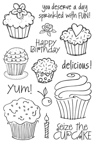Cupcakes Clear Stamp Set