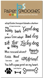 Paper Smooches Lucky Dog 2 Clear Stamps