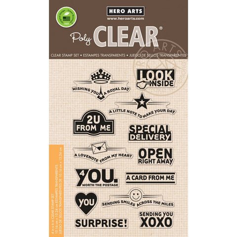 Envelope Art Clear Stamp Set