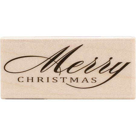 Hero Arts Fancy Merry christmas Wood Mounted Rubber Stamp
