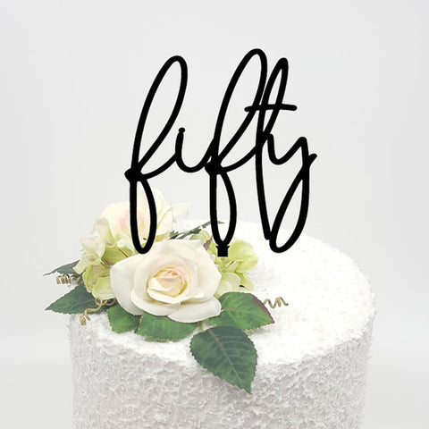 Fifty Acrylic Cake Topper