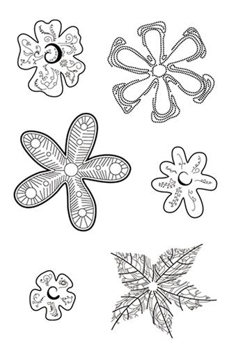 Flower Embellishments Clear Stamps