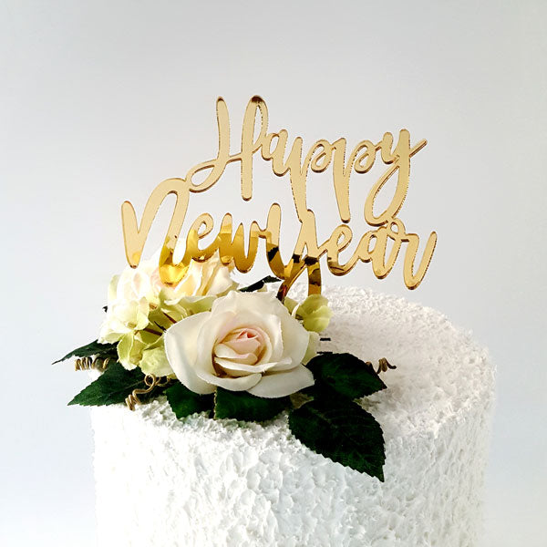 Happy New Year Acrylic Cake Topper
