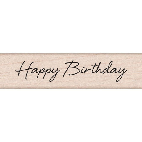 Hero Arts Happy Birthday Wood Mounted Rubber Stamp
