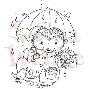 Stampavie Hedgehog With Umbrella