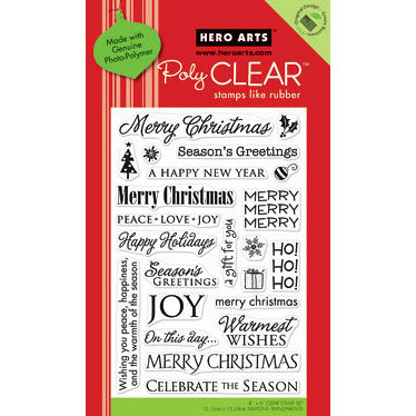 Holiday Greetings Clear Stamp Set