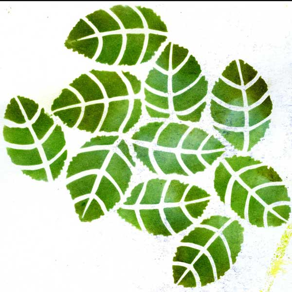 Stencillogy Leaf Bunch Stencil
