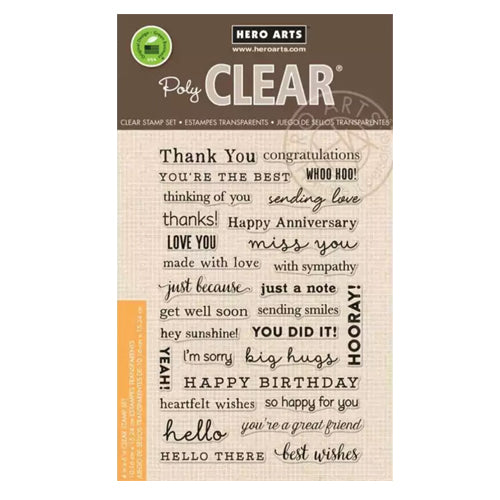 Many Everyday Messages Clear Stamp Set