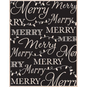 Hero Arts Merry Background Wood Mounted Rubber Stamp