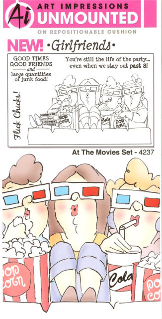 At The Movies Set Cling Rubber Stamps