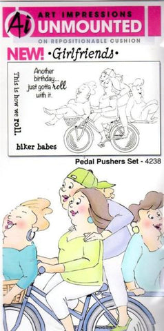Pedal Pushers Set Cling Rubber Stamps