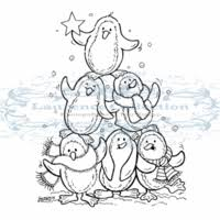 A Pile Of Penguins Clear Stamp